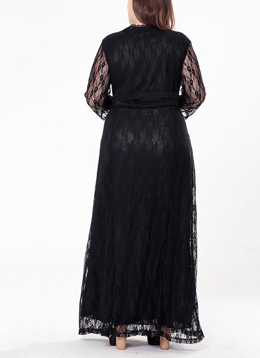 Long Formal Dress in Lace