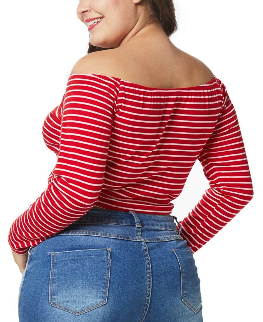 Long-Sleeved Off-Shoulder Crop Top