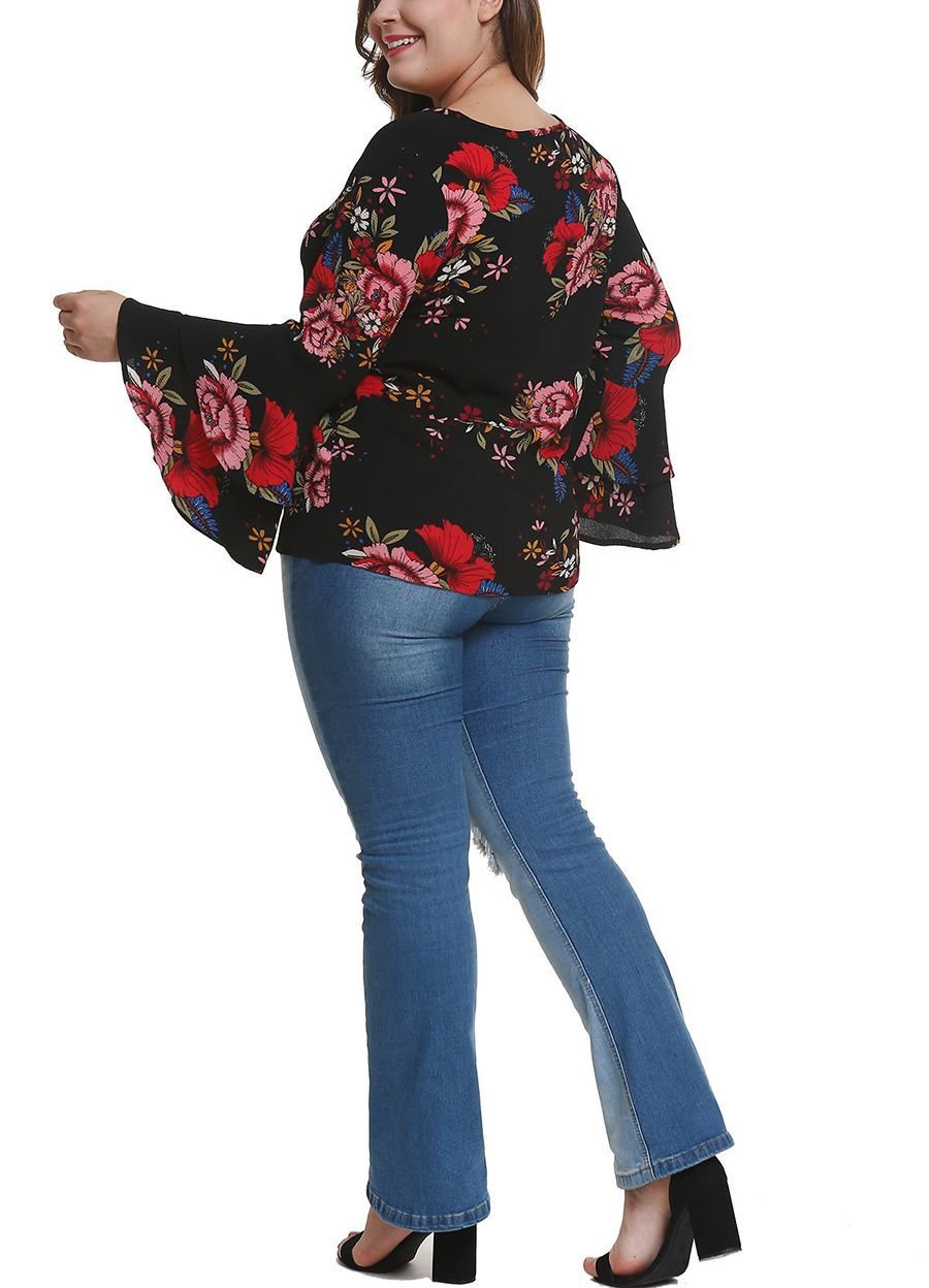 Floral Pullover Top in Chiffon