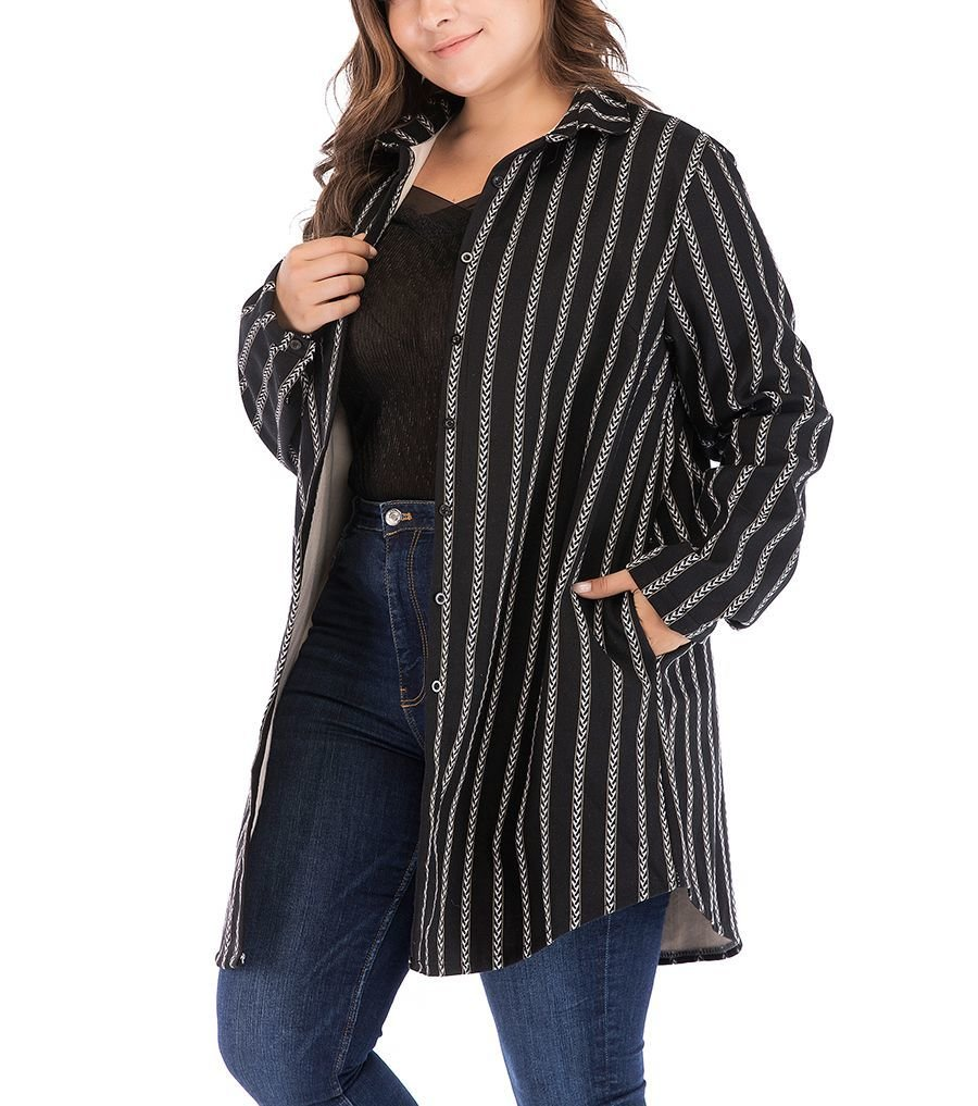 Cozy Plus Size Top with Big Shirt Style