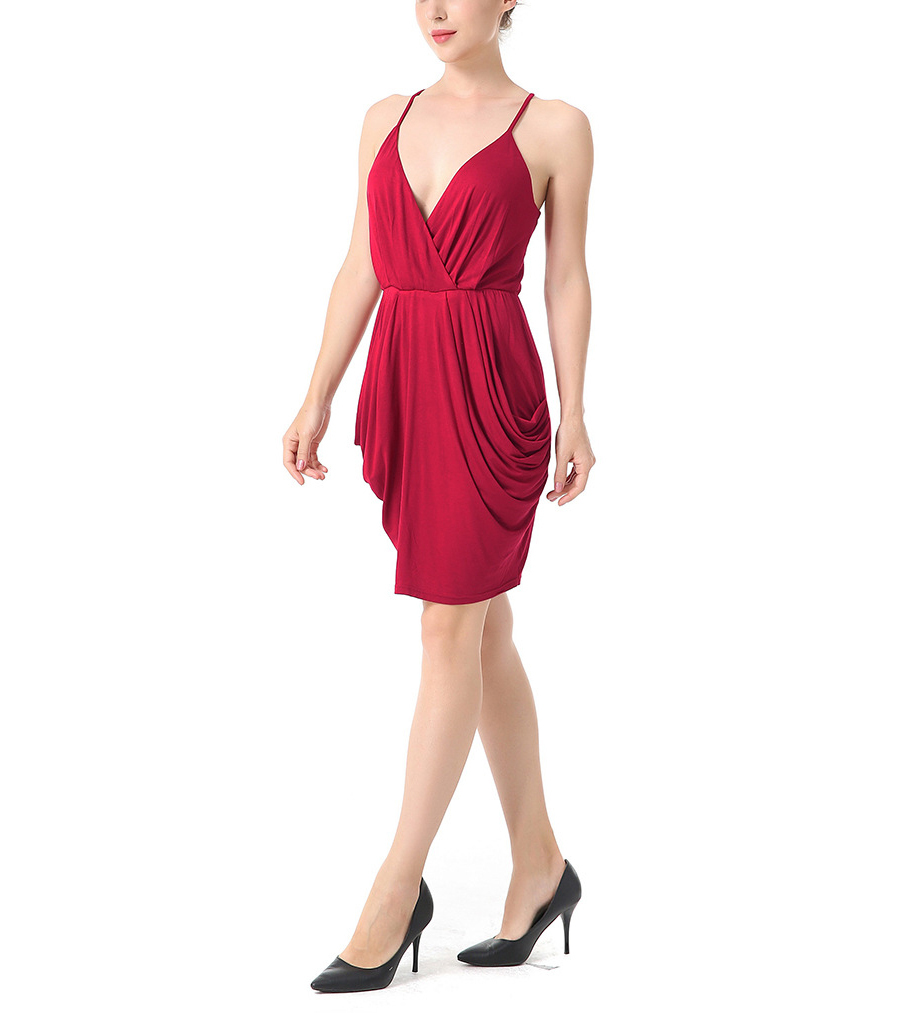 Draped Club Dress with Pockets