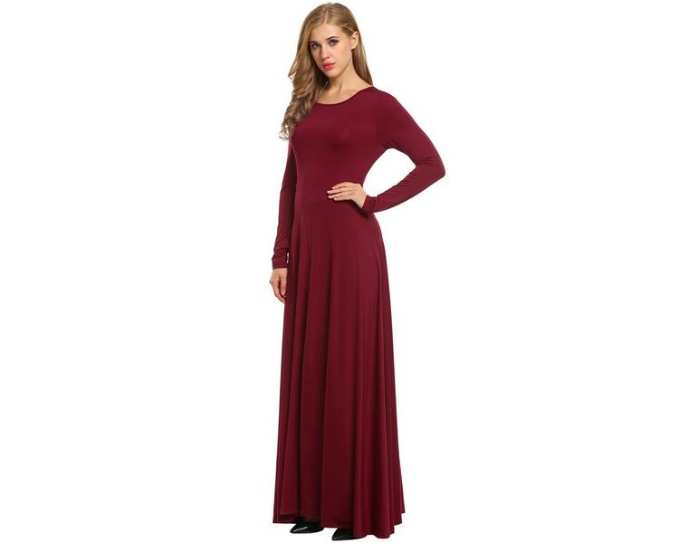 Elegant Formal Dress with V-Back