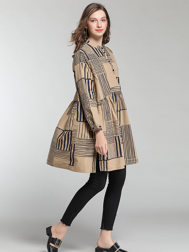 Combed Cotton Print Casual Dress