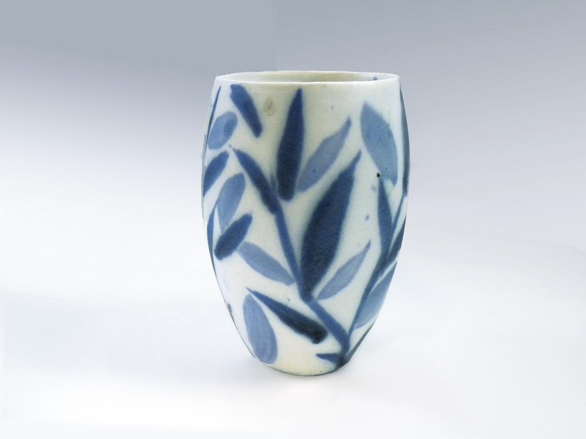 Tumbler, Blue with White Brushwork by Mackenzie Andersen