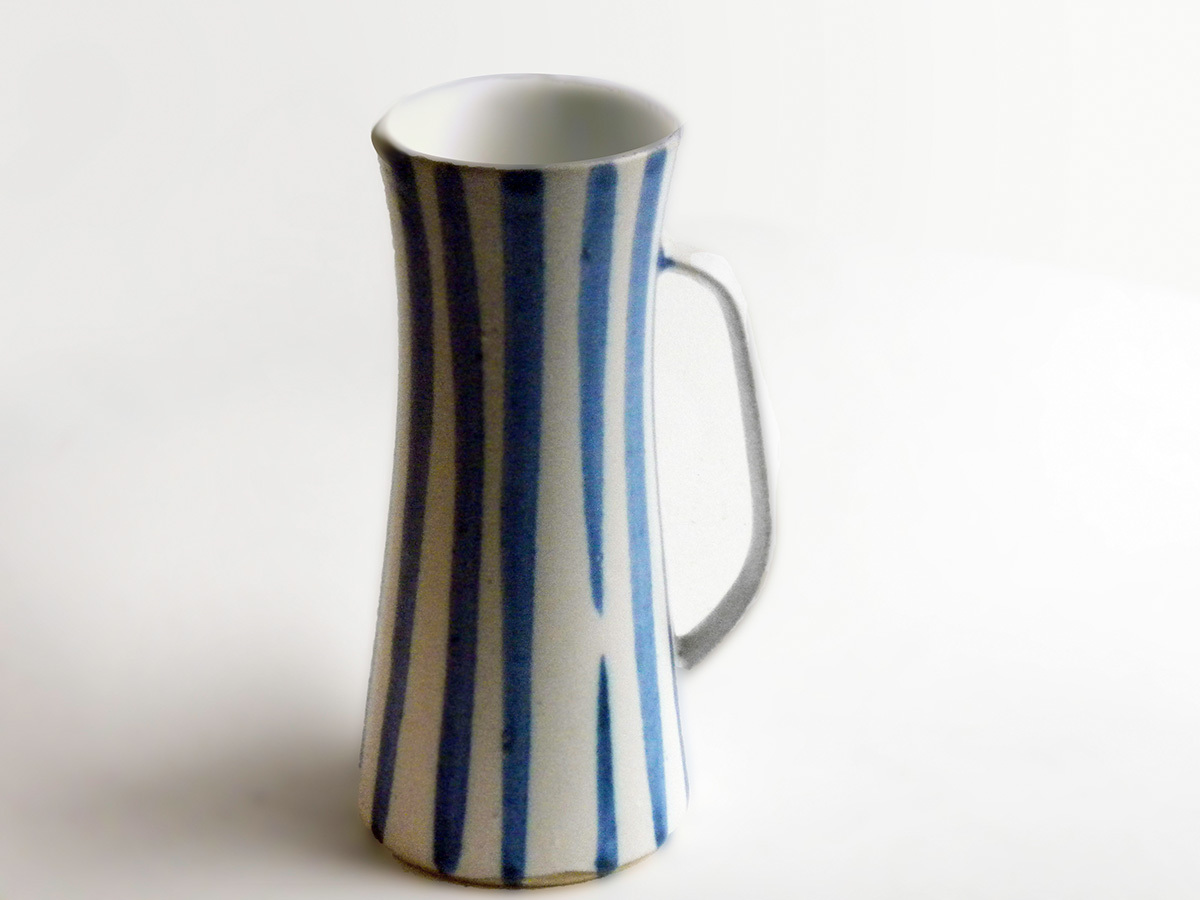 Rare Early Blue & White Stein by Weston Neil Andersen