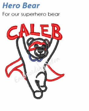 Embroidery Salon - Hero Bear Design