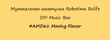 Музыкальная шкатулка Robotime Rolife  DIY Music Box  #AMD61 Moving Flavor
