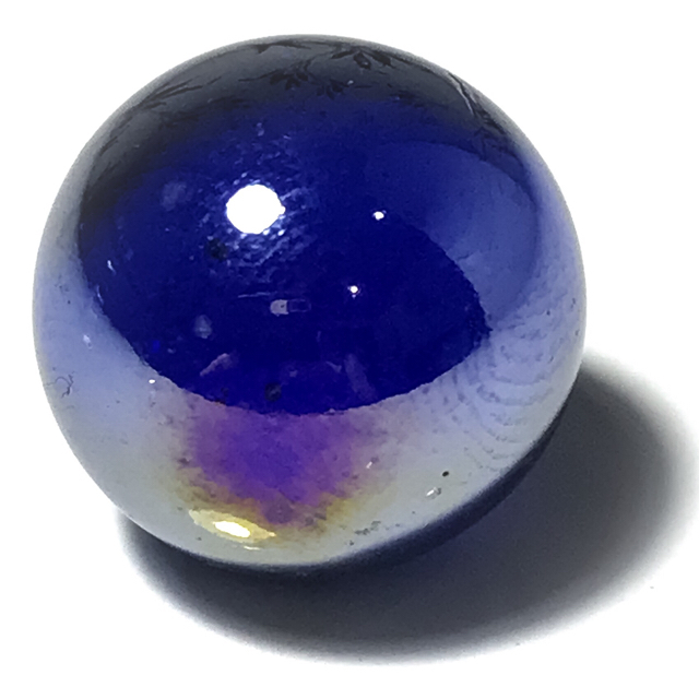 Crystal Wishing Ball Luang Por Opasi Indigo Colour