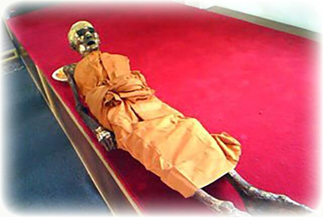 Luang Phu Seng's Corpse, at Wat Bang Na
