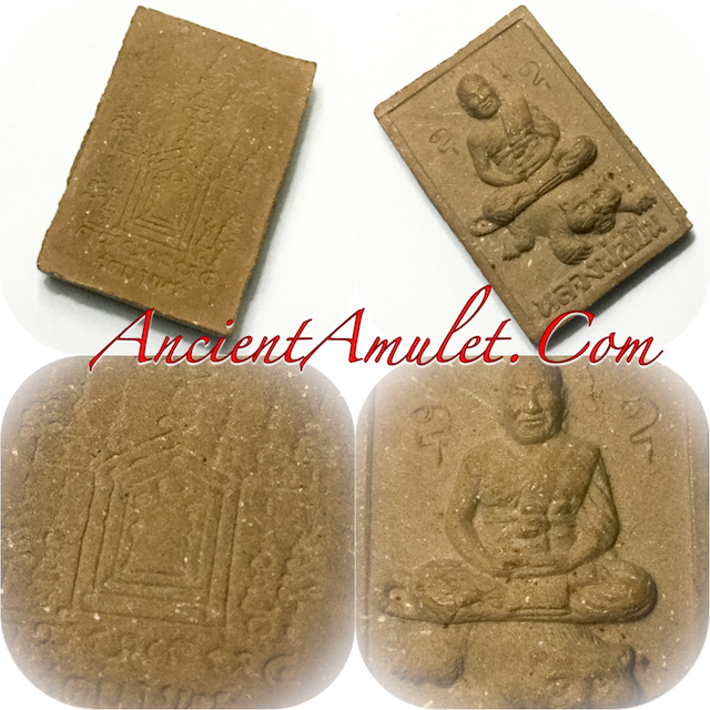 Luang Por Phern riding the Tiger first edition amulet Wat Bang Pra 2533 BE