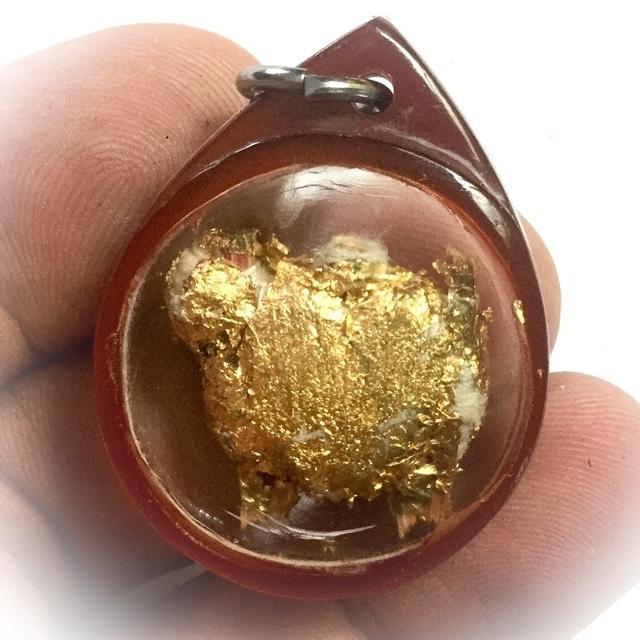 Po Pan Pitsadarn Animist Charm Ancient Amulet Luang Phu Yen