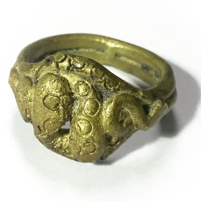 Magic Snake Ring Ancient Amulet Luang Por Im Wat Hua Khao