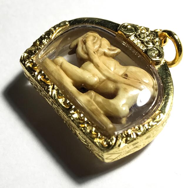 Suea Kin Hang Nga Gae Ivory Tiger amulet Luang Por Heng circa 2450 - 2460 BE