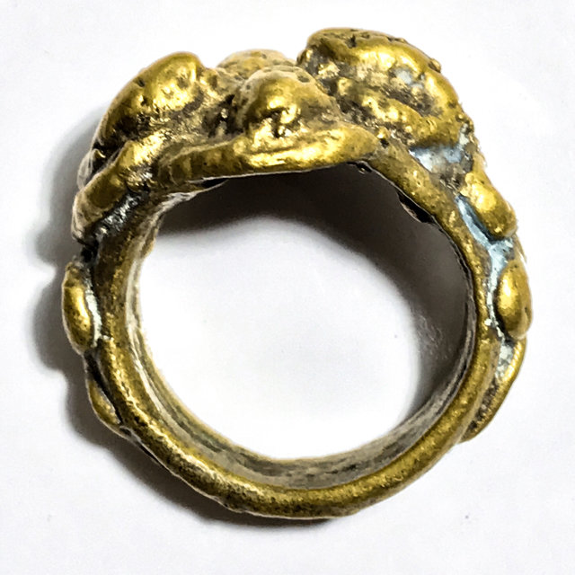 Serpentine Ring of Protection and Wealth amulet Luang Por Im Wat Hua Khao