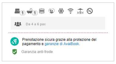 Garanzia anti-frode di Avaibook