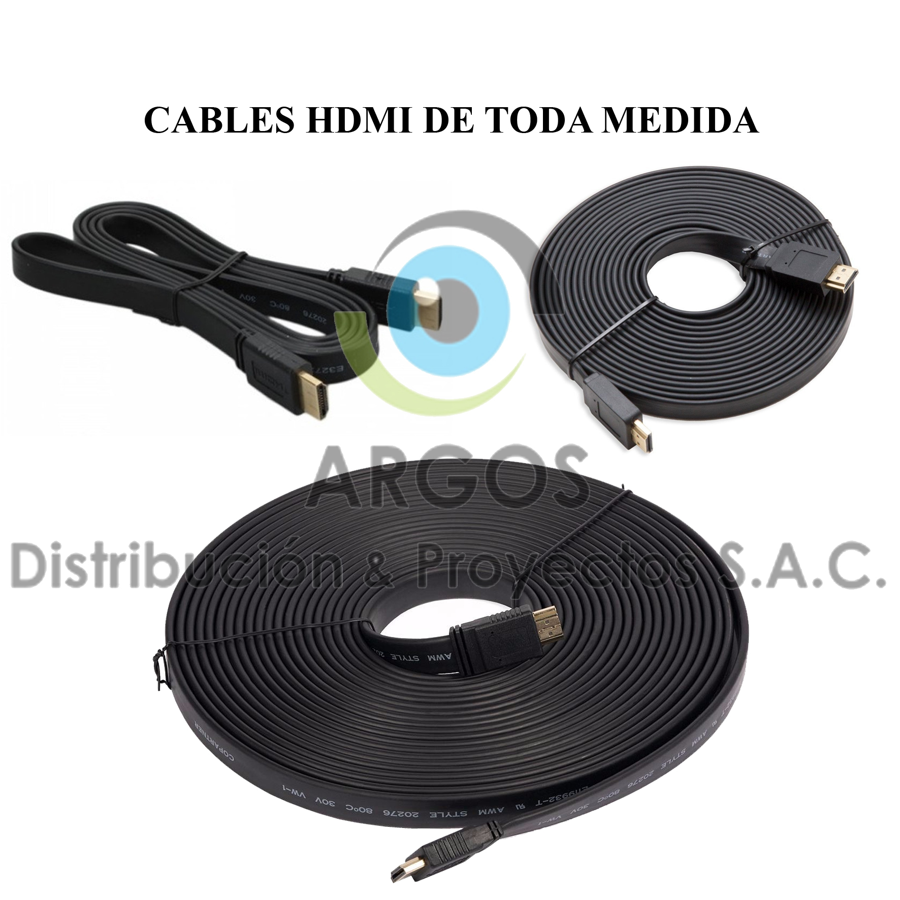 Cables HDMI desde 1.5m hasta 30m