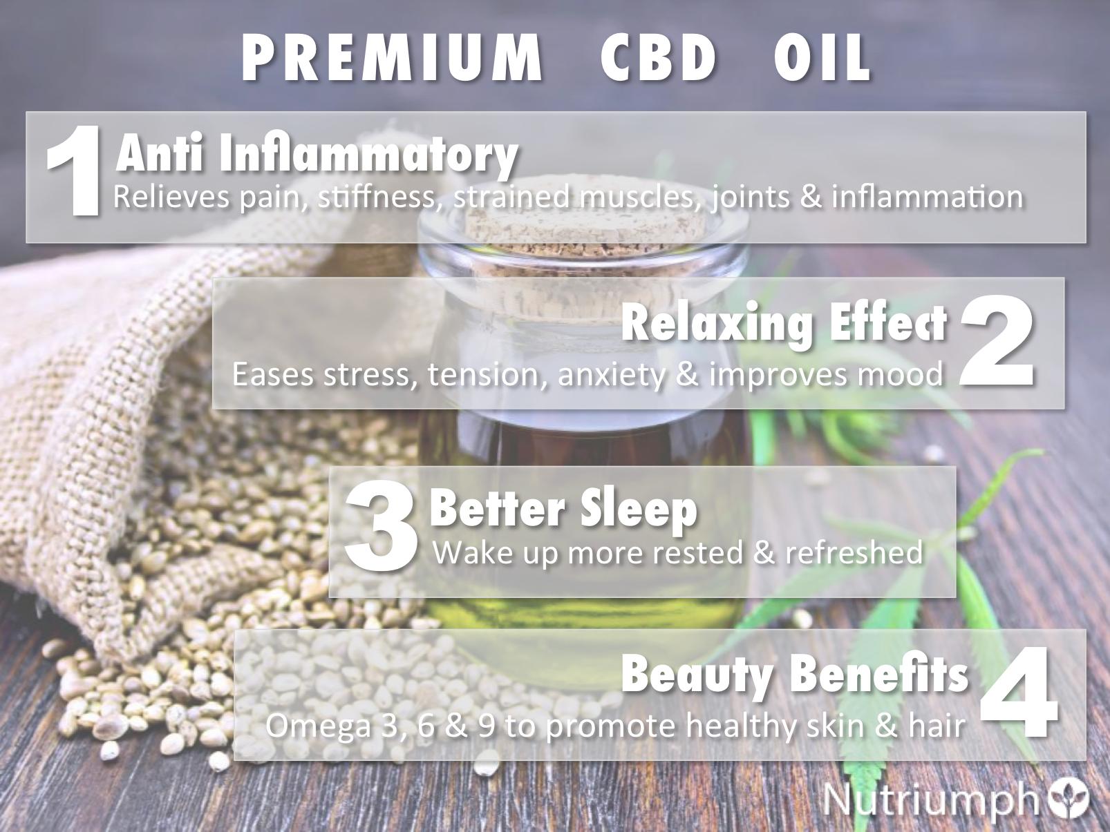 Nutriumph pure natural hemp oil 1000mg full spectrum premium cbd drops