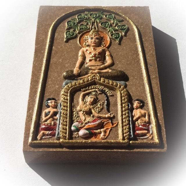 Pra Somdej Chana Marn Buddha Subduing Mara inder Bodhi tree with Dharani Goddess - Ajarn meng Khun Phaen