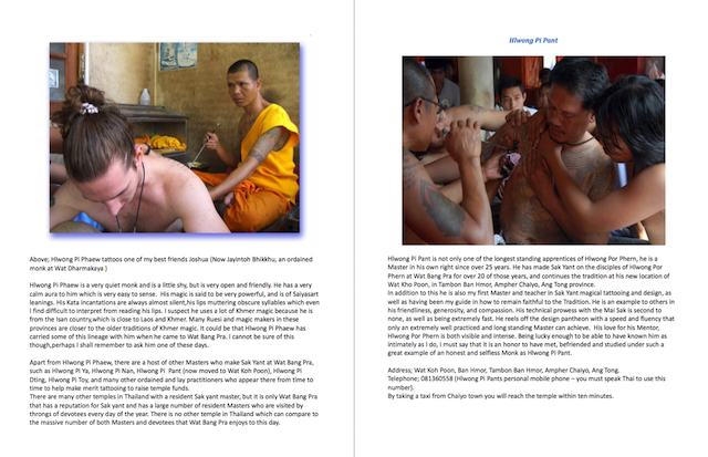 Wat Bang Pra Monks making Sak Yant Thai Temple Tattoos
