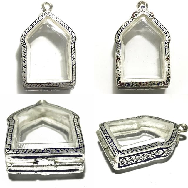 Solid Silver Frame for Pra Khun Phaen Amulets