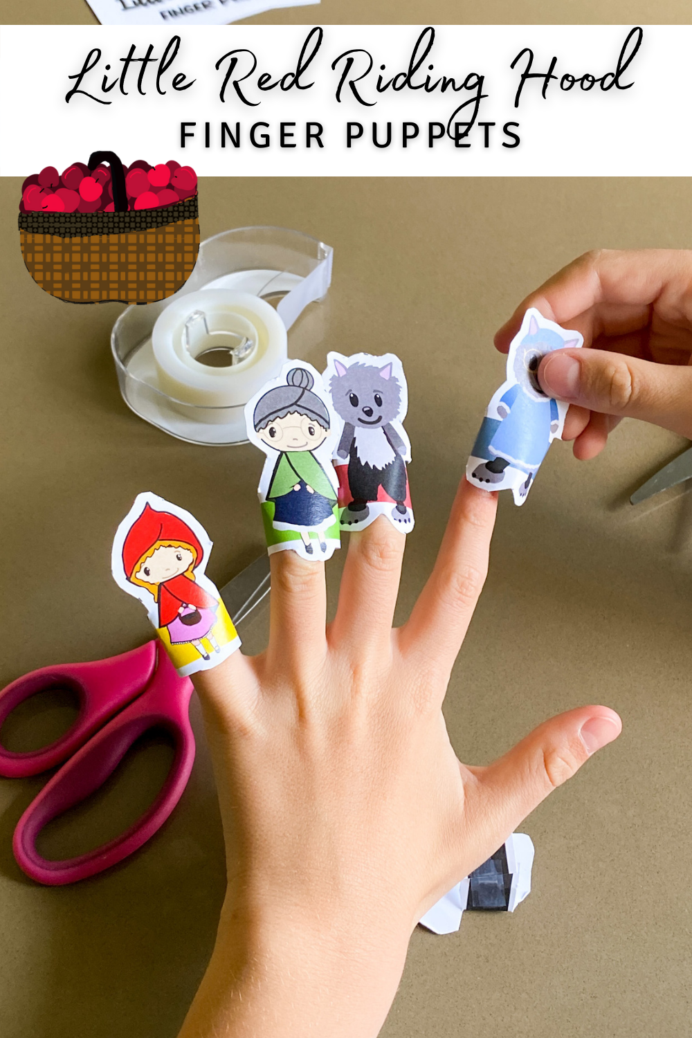 Little Red Riding Hood Finger Puppets PIN 2 png