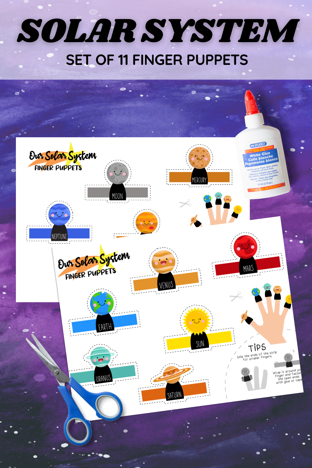 Solar System Finger Puppets PIN 3 png