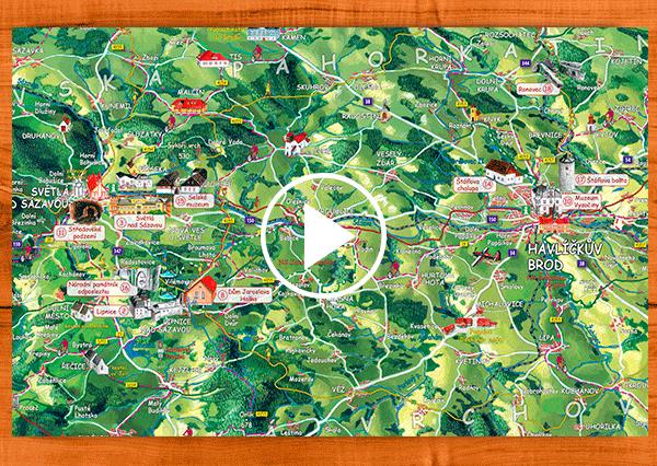 interaktivní podoba mapy
