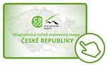 Ručně malovaná magnetická mapa ČR