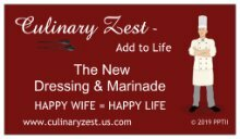 FREE Culinary Zest Dressing Marinade Magnet