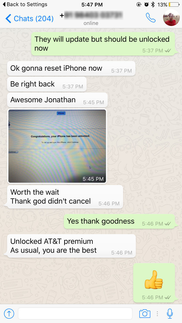 USA AT&T iPhone Official Permanent IMEI Factory Unlock [In