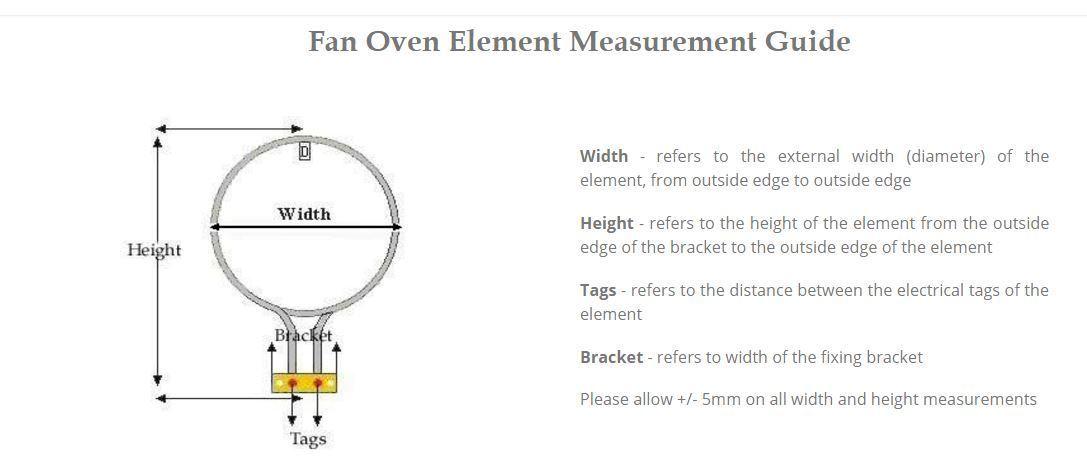 belling cooker fan oven element 2 turn 2500w x 2 2pk