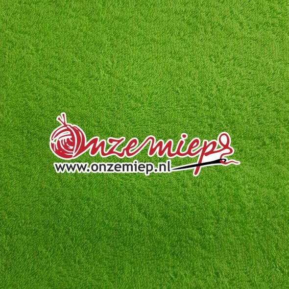 Handdoek met naam - lime groen - 50 x 100 cm