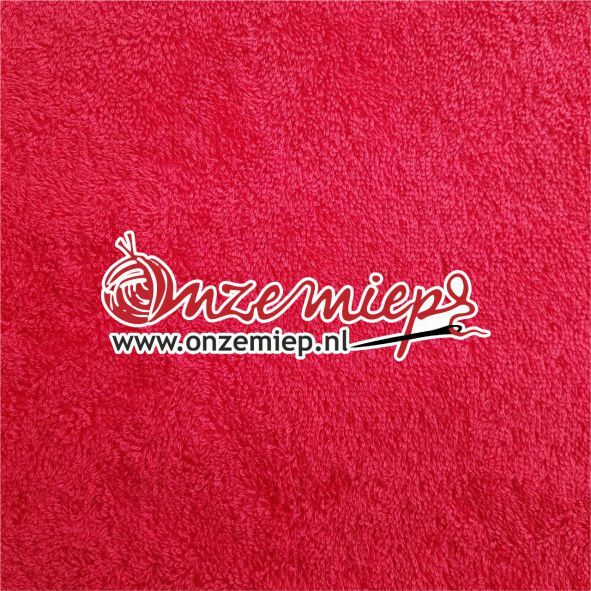 Handdoek met naam - rood - 50 x 100 cm