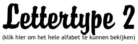 Alfabet lettertype 2