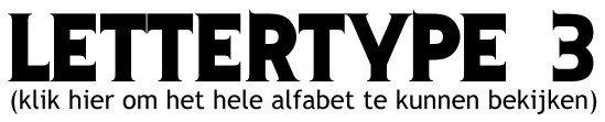 Alfabet lettertype 3