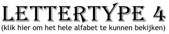Alfabet lettertype 4