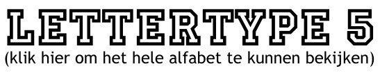 Alfabet lettertype 5