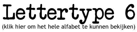 Alfabet lettertype 6