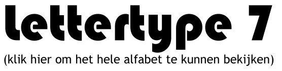 Alfabet lettertype 7