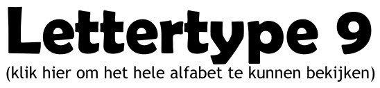 Alfabet lettertype 9
