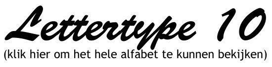 Alfabet lettertype 10