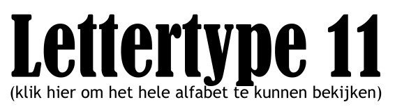Alfabet lettertype 11