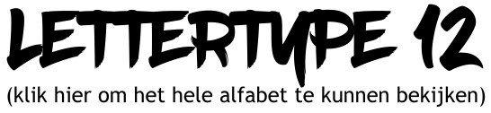 Alfabet lettertype 12