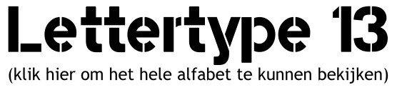 Alfabet lettertype 13