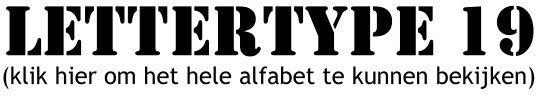 Alfabet lettertype 19