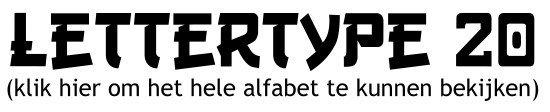 Alfabet lettertype 20