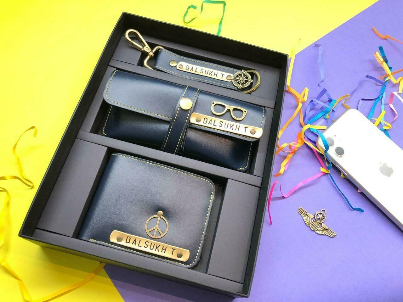 Blue wallet combo set