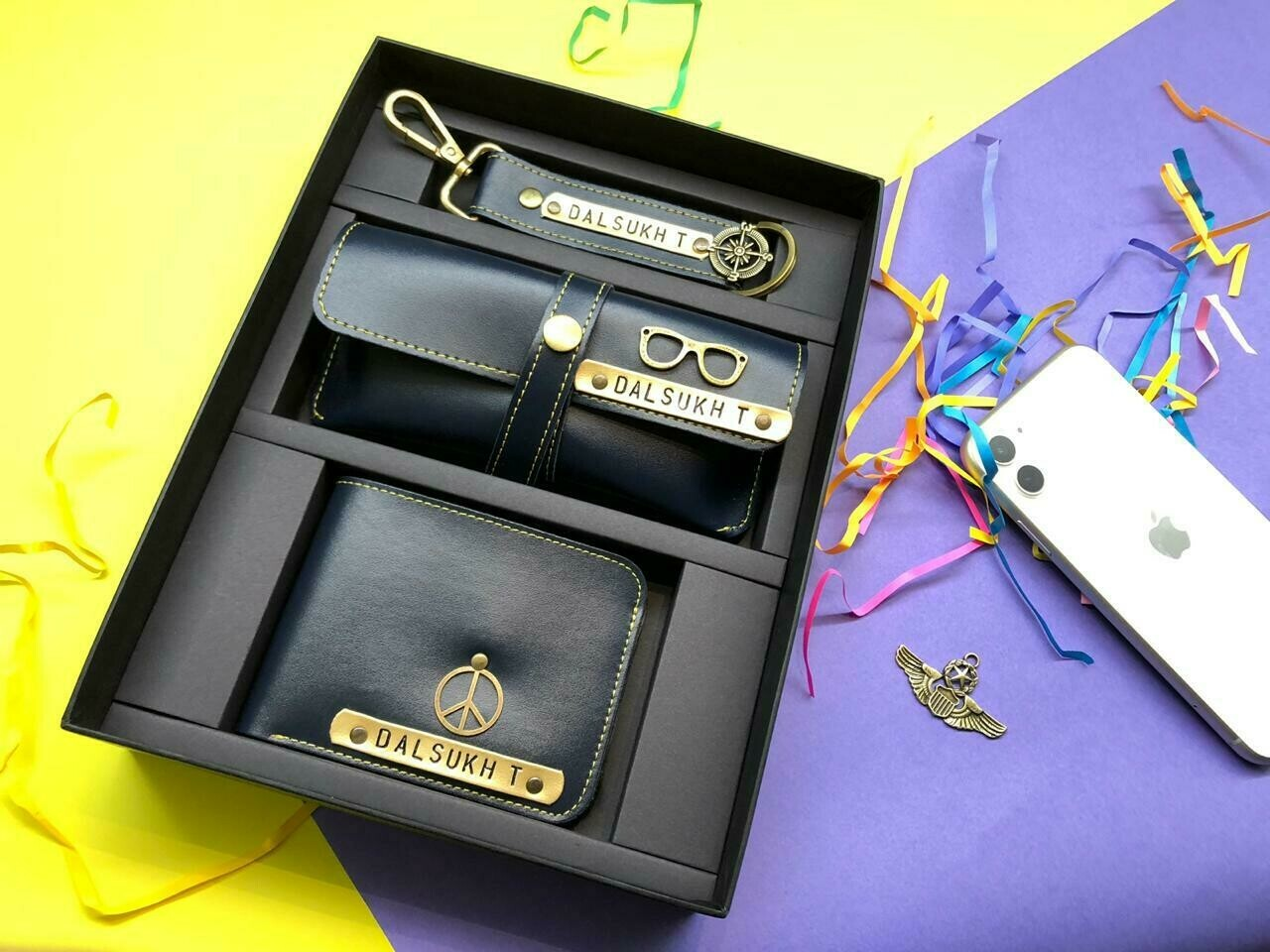 Black wallet combo set