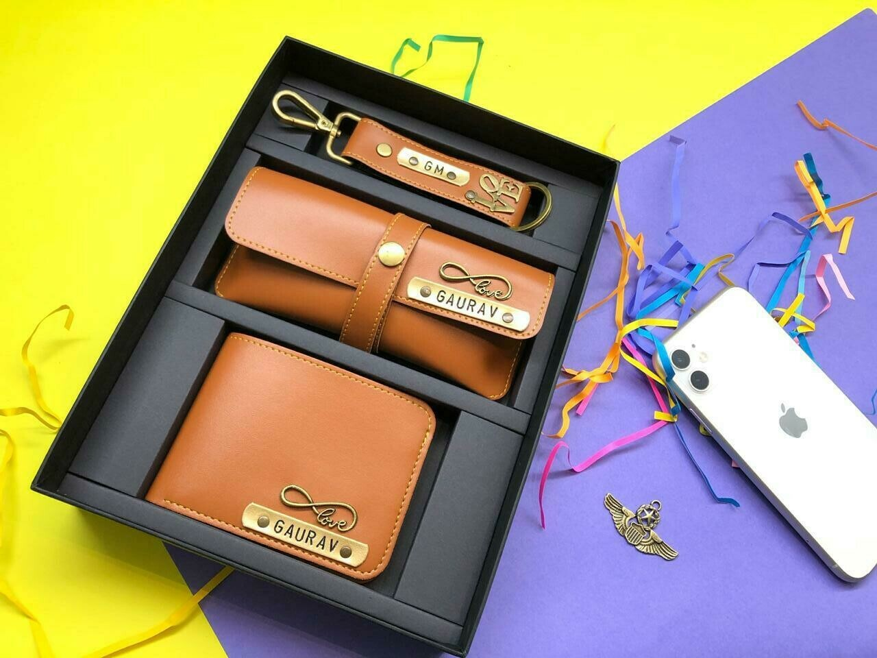 Light Brown wallet combo set