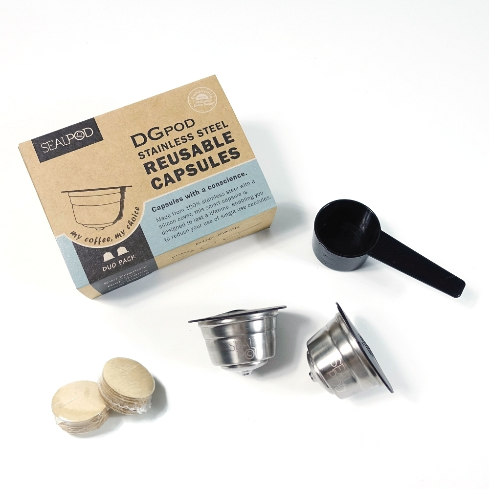 CAPSULONE Stainless Steel Reusable Coffee Capsules Pods Filter for dolce gusto